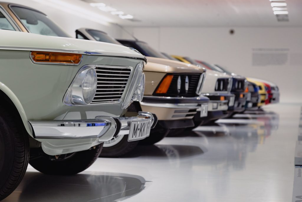 line-of-used-cars-in-a-showroom