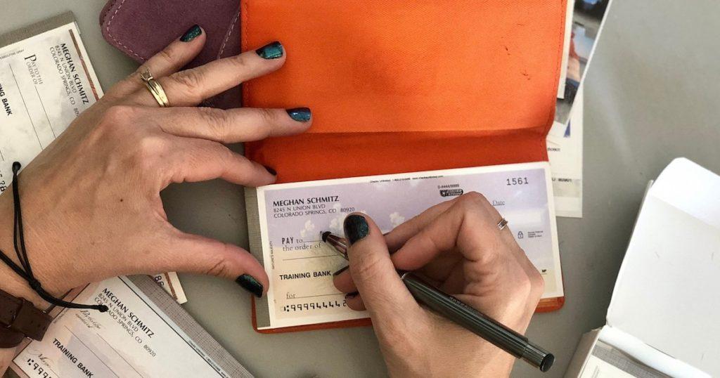checkbook-writing