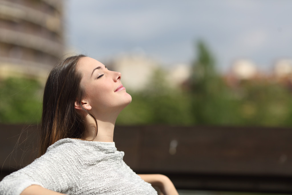 woman enjoying the fresh air
