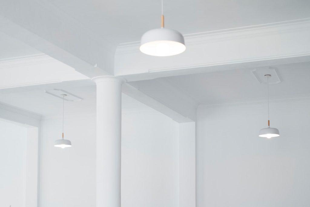white hanging lights