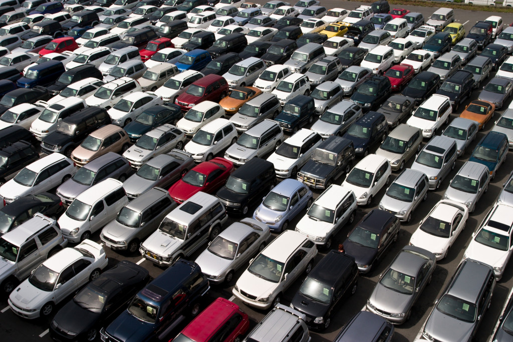 many cars together