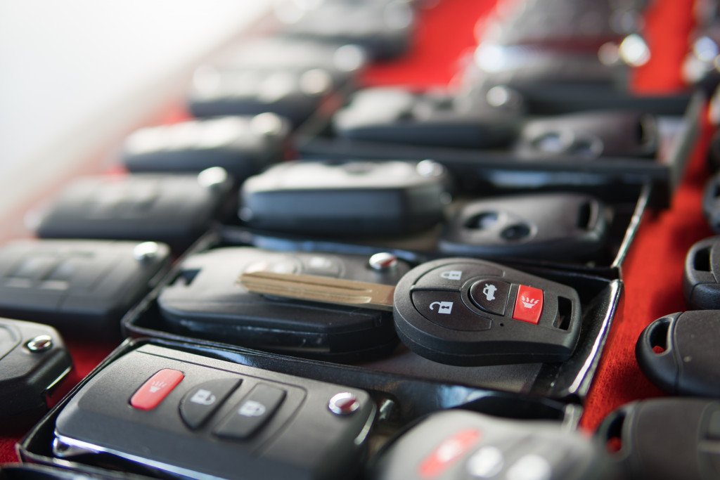 group of car keys